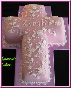 Image Detail for - Holy Communion cross - Queenie's Cakes