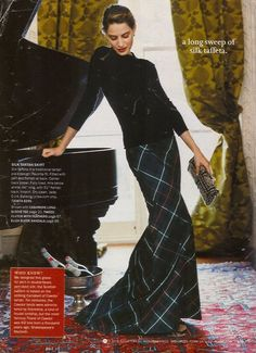 Tartan. I forget which year this j.crew catalogue this was...but I do remember there was a beautiful woolen ivory gown in it as well!