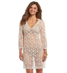 db61adc771 Mud Pie Women's Mallory Medallion Crochet Cover-Up at Amazon Women's  Clothing store: $58.62
