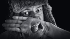"Aaarghhh!    Abel Tonkens, The Netherlands, using Photoshop CS5    ""This is a self-portrait using two pictures – one with an open mouth and the other with my hand covering it. Both were shot in Raw so that I could make them'pseudo HDR'. I blended the pictures in Photoshop using a Layer Mask on the 'covered mouth' picture. After this, I carried out the black and white processing, some sharpening, dodging and burning plus some vignetting to get the final result."""