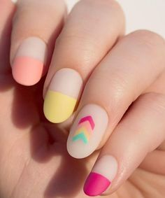 A manicure is a cosmetic elegance therapy for the finger nails and hands. A manicure could deal with just the hands, just the nails, or Elegant Nail Designs, Simple Nail Art Designs, Elegant Nails, Easy Nail Art, Matt Nails, Bright Nail Art, Pastel Nail, Nailart, Minimalist Nails