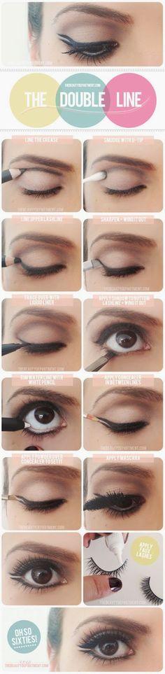 The Double Line Eye Makeup Tutorial - Toronto, Calgary, Edmonton, Montreal, Vancouver, Ottawa, Winnipeg, ON
