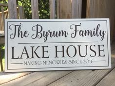 Lake House Wall Art personalized family name sign carved cabin sign decor rustic lake