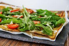 Pizza con Base de Crujiente de Coliflor