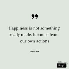 @smplsweden posted to Instagram: Happiness is not something ready made. It comes from our own actions.    #happiness #actions #keepitsmpl #hållbarvardag #hälsa #health #organiseradenkelhet