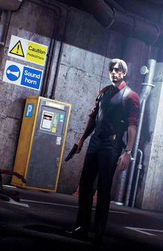 Leon in this red clothes got really hot Leon S Kennedy, Devil May Cry, Resident Evil, Videogames, Pretty Boys, Character Design, Police, Weapons, Gaming