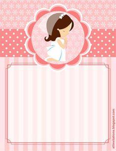 Resultado de imagen para estampas para primera comunion de niña
