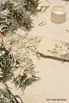 Let's Add Sprinkles: November 2016 Tree Stencil, Fabric Pumpkins, Christmas Store, Calling Cards, Decorating Blogs, Wonderful Time, How To Dry Basil, Sprinkles, Garland