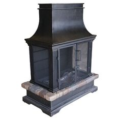 Trentino Deluxe Outdoor Fireplace with Removable Screens | Outdoor ...
