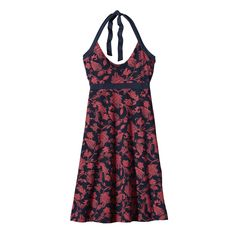 The Patagonia Women's Iliana Halter Dress is an easy-draping, stretchy organic cotton halter dress with an open back design. #FairTrade #organic #apparel