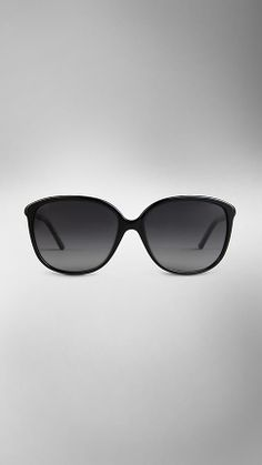 Leather Wrapped Cat-Eye Sunglasses | Burberry