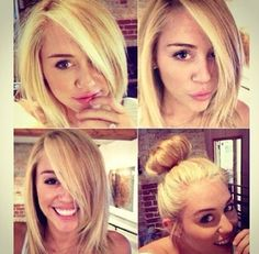 Hair Miley Cyrus. She needs to grow it out so bad