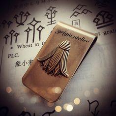 NEW  RENGE Money Clip  Made in USA Brass Lotus Flower by grigio, $18.00