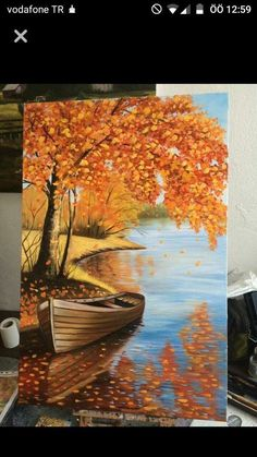 59 New Ideas For Autumn Tree Watercolor Landscape Paintings