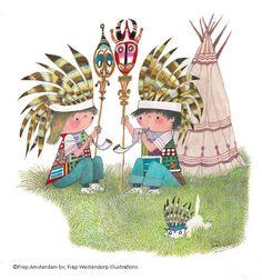 #indianen #vredespijp # fiep Copyright Fiep Westendorp Illustrations