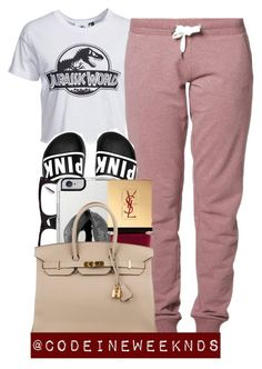 """""""10/25/15"""" by codeineweeknds ❤ liked on Polyvore featuring New Look, Blue Sportswear, Ray-Ban, Lipsy, Yves Saint Laurent and Hermès"""
