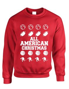 Adult Crewneck All American Christmas Love Sport Ho – ALLNTRENDSHOP