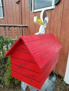 Snoopy Red Baron Mailbox. MAILBOX INCLUDED by FrancescosBirdhouses