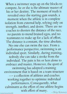 Chlorine is my perfume. | teenswimmer: ~ Skip Kenney, head coach for the...