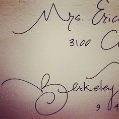 beautiful handwriting thanks to tibi