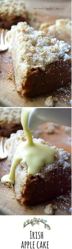 The perfect apple cake, with or without custard sauce.