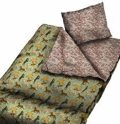 Wildkin Horses in Green Sleeping Bag (Horse) Kids Sleeping Bags, Kids Bags, Bath Accessories, Sleepover, Kids Room, Towel, Outdoor Blanket, Horses, Green