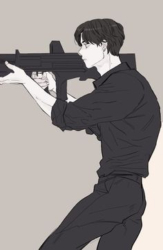 Handsome Anime Guys, Cute Anime Guys, Digital Art Anime, Anime Art, Pelo Ulzzang, Poses Anime, Character Art, Character Design, Bts Drawings