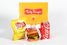 Tasty Burger to-go meal