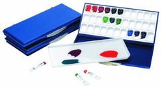 Amazon.com: Martin Mijello Airtight Leak Proof Fusian Watercolor 33-Well Palette