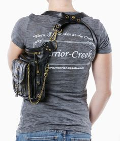 Uptown Pack Black Thigh Holster Protected Purse by WCCouture