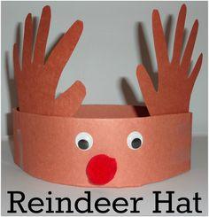 christmas crafts for kids to make Super easy reindeer hat craft for kids. Daycare Crafts, Toddler Crafts, Kids Daycare, Kids Boys, Reindeer Hat, Reindeer Headband, Reindeer Pokey, Hat Crafts, Paper Crafts