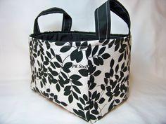 PK Fabric Basket in Black Leaves on White  Storage by PKStuff, $14.50