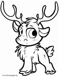 sven the reindeer coloring pages - Google Search | Coloring Pages ...