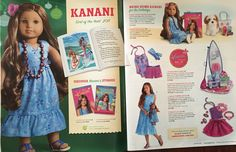 Kanani layout in the 2011 American Girl holiday catalog.