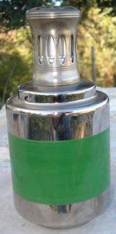 Lampe Berger Porcelaine Verte Metallisée