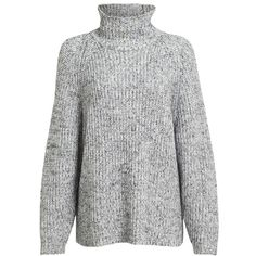 Women's Alexander Wang Marled Turtleneck Sweater ($350) ❤ liked on Polyvore featuring tops, sweaters, outerwear, turtle neck top, raglan top, slouch sweater, polo neck top and alexander wang top