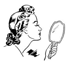 Retro Ladies - A Day of Beauty - The Graphics Fairy