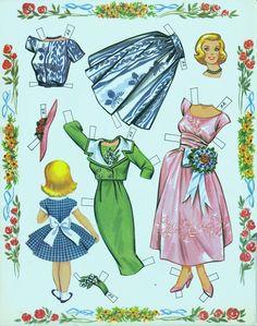 Hair-Dos to try on life-size model 1960 uncut book - Bobe Green - Álbuns da web do Picasa