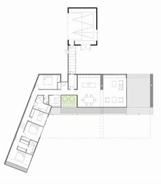 Brick Bay House - House Plans, Home Plan Designs, Floor Plans and Blueprints Cabin Plans, Shed Plans, Home Design Plans, Plan Design, L Shaped House Plans, Long House, Solar House, House Layouts, Architecture Plan