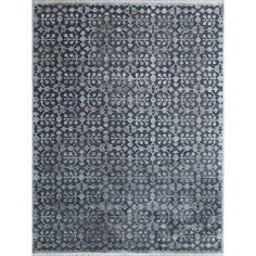 Shop for Hand-Woven Lorma Mar Water Blue Handspun Wool and Art Silk Area Rug (9' x 12'). Get free shipping at Overstock.com - Your Online Home Decor Outlet Store! Get 5% in rewards with Club O!