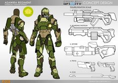 Infinity: Asawira con un Spitfire y Shikami con Contender Infinity Art, Infinity The Game, Character Sheet, Character Concept, Character Art, Weapon Concept Art, Armor Concept, Superhero Characters, Sci Fi Characters