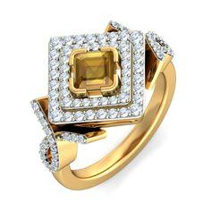 #bluestone #jewelry #noilly #cocktail #ring #diamond #citrine #gold #fasion