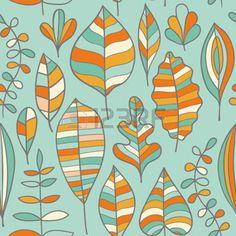 dibujos de hojas de otoño: Patrón sin fisuras con la hoja