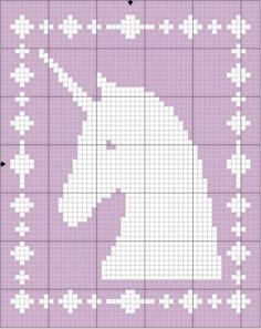 Filet Unicorn Blanket Crochet Pattern - The Lavender Chair This Filet Unicorn Blanket features a gorgeous unicorn! Perfect blanket to make for your little girl! Get the FREE crochet pattern HERE! Bobble Stitch Crochet Blanket, Crochet Unicorn Blanket, Crochet Elephant, Baby Afghan Crochet, Crochet Patterns Filet, Graph Crochet, Free Crochet, Crochet Wall Hangings, Tapestry Crochet