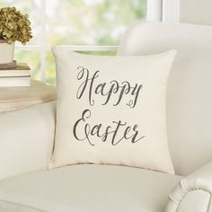 Found it at Joss & Main - Happy Easter Cotton Throw Pillow