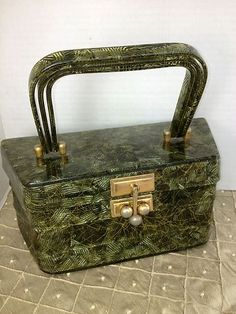 vintage Myles lucite purse | ... it yourself VINTAGE SIGNED GREEN AND GOLD MYLES LUCITE PURSE HANDBAG