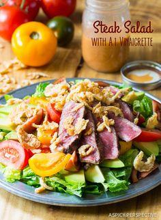 Dinner tonight! Grilled Steak Salad with A1 Vinaigrette