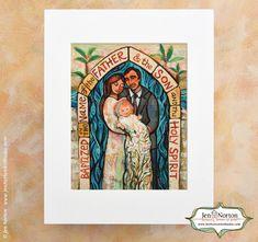 Catholic Wedding Gift For Groom : Baptism Wall Art Gift. Art by Jen Norton (JenNortonArtStudio on Etsy ...