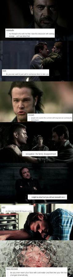 Supernatural + text posts