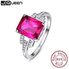 Aliexpress.com : Buy JQUEEN Vintage Garnet Ruby Red Stone S925 Silver Ring Opened Size 100% Pure 925 Sterling Silver Rings for women Jewelry from Reliable ring of fire ring suppliers on JQUEEN 925 Silver Jewelry Store
